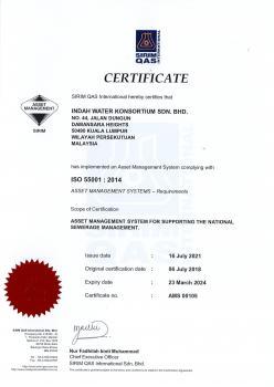 ISO 55001:2014 Asset Management System
